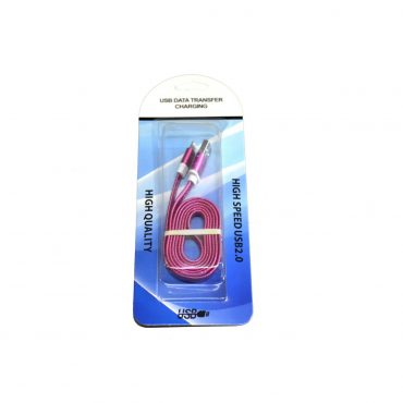Cable Usb Plano P/iphone Rosa