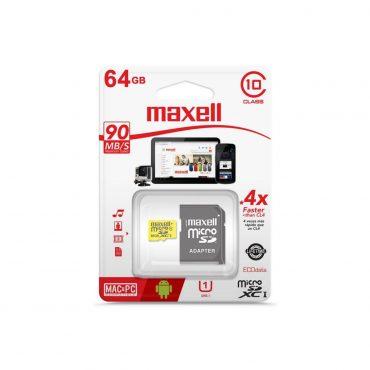 Memoria Mic Sd Maxell Xc 64gb C10 C/adaptador