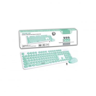 Combo Cliptec 340 Teclado/mouse Wireless Green