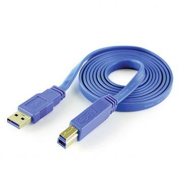 Cable Cliptec 120 Flat Usb3 Impresora Am A Bm 1.5m