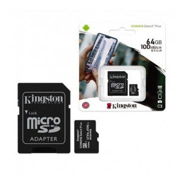 Memoria MicroSD Kingston Select Plus 64GB clase 10