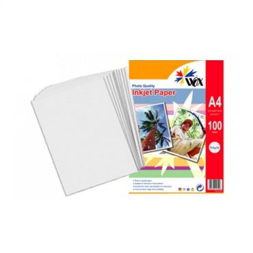Papel wox inkjet alta resoluci?n a4 110grs. X 100 uds.