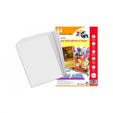 Papel wox glossy fotogr?fico a4 – autoadhesivo 128grs. X 20 uds.